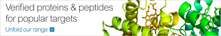 Verified proteins & peptides for popular targets
