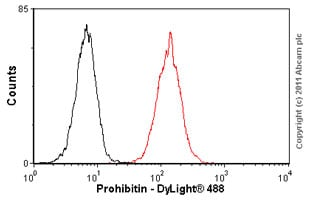 Flow Cytometry-Prohibitin antibody [II-14-10] - Mitochondrial Marker(ab1836)