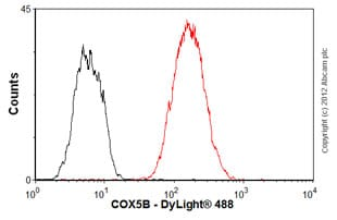 Flow Cytometry - Anti-COX5B antibody [16H12H9] (ab110263)