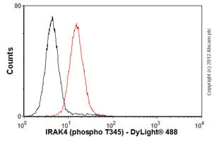 Flow Cytometry-Anti-IRAK4 (phospho T345) antibody [A8A8](ab113656)