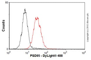 Flow Cytometry-Anti-PSD95 antibody [7E3-1B8](ab13552)