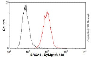Flow Cytometry-Anti-BRCA1 antibody [MS110](ab16780)