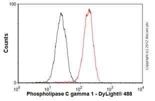 Flow Cytometry-Anti-Phospholipase C gamma 1 antibody [2B1](ab16955)