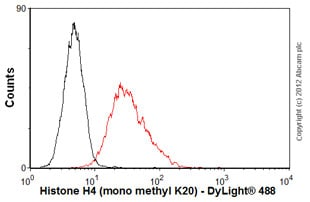 Flow Cytometry-Anti-Histone H4 (mono methyl K20) antibody [mAbcam 16974](ab16974)