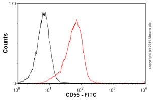 Flow Cytometry-Anti-CD55 antibody [143-30] (FITC)(ab25634)
