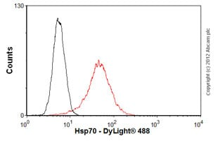 Flow Cytometry-Anti-Hsp70 antibody [3A3](ab5439)