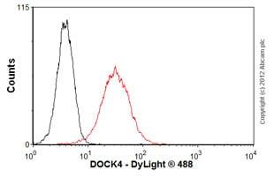 Flow Cytometry-Anti-DOCK4 antibody(ab56743)