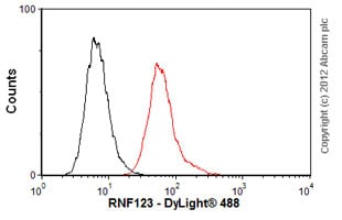 Flow Cytometry-Anti-RNF123 antibody(ab57549)