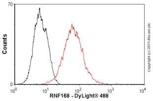Flow Cytometry - Anti-RNF168 antibody (ab58063)