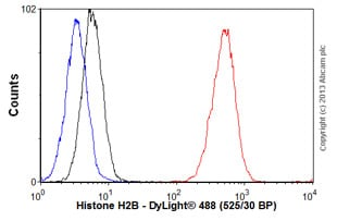 Flow Cytometry-Anti-Histone H2B antibody [mAbcam 64165] - ChIP Grade(ab64165)