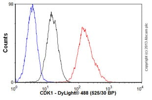 Flow Cytometry-Anti-CDK1 antibody [POH-1](ab8040)