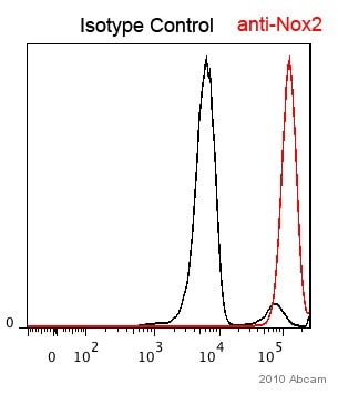 Flow Cytometry - NOX2/gp91phox antibody (ab80508)