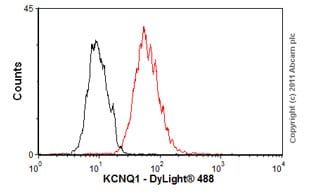 Flow Cytometry-Anti-KCNQ1 antibody [S37A-10](ab84819)