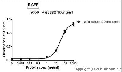 Sandwich ELISA - BAFF antibody (ab9359)