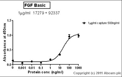 Sandwich ELISA - FGF basic protein (Active) (ab9596)
