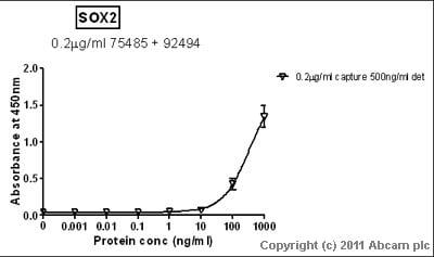 Sandwich ELISA - SOX2 antibody [EPR3131] (ab92494)