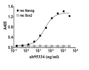 Indirect ELISA - Nanog antibody [PR-2E11] (ab95334)