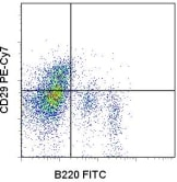Flow Cytometry - Integrin beta 1 antibody [HMb1-1] (PE/Cy7 ®) (ab95622)