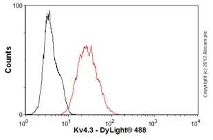 Flow Cytometry-Anti-Kv4.3 antibody [S75-41](ab99045)