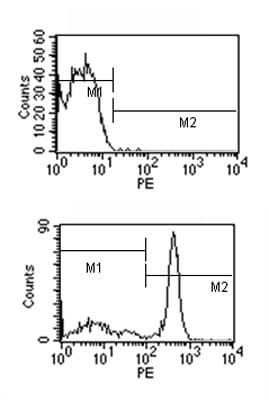 Flow Cytometry - Mouse monoclonal [M 2A1]  Secondary Antibody to Rat IgM - mu chain (PE) (ab99686)