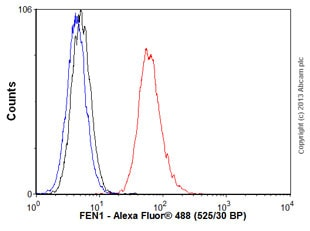 Flow Cytometry - Anti-FEN1 antibody [4E7] (ab462)