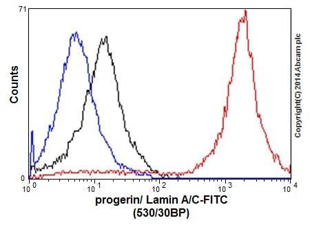 流式细胞术-抗层粘连蛋白A+层粘连蛋白C抗体[EPR4100]-核膜标记(ab108595)