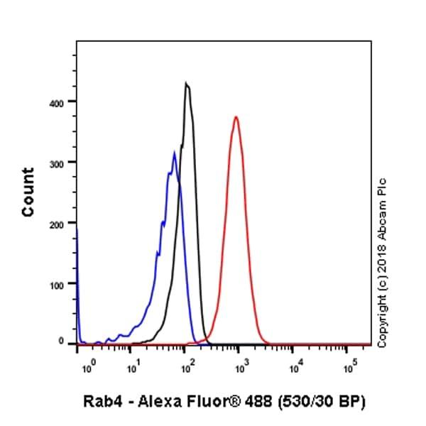 Flow Cytometry - Anti-Rab4 antibody [EPR3043] - Early Endosome Marker (ab109009)