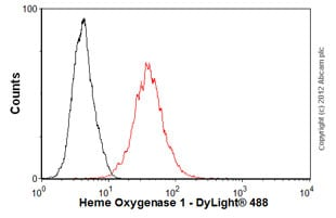 Flow Cytometry - Anti-Heme Oxygenase 1 antibody [GTS-1] (ab12220)