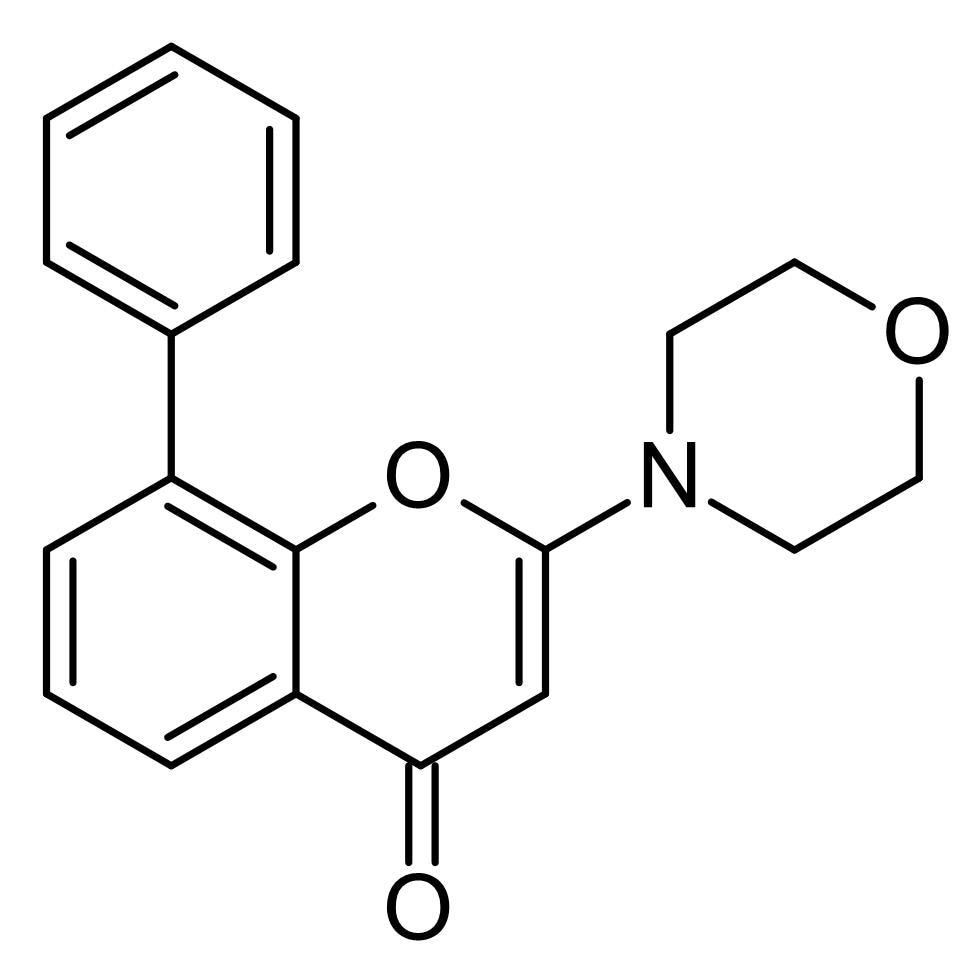 Chemical Structure - LY 294002, PI3-kinase inhibitor (ab120243)