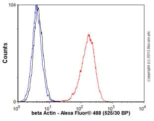 Flow Cytometry - Anti-beta Actin antibody [4C2] (ab123020)