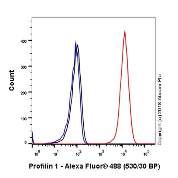Flow Cytometry - Anti-Profilin 1 antibody [EPR6304] (ab124904)