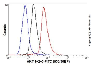 Flow Cytometry - Anti-AKT1/2/3 antibody [EPR16798] (ab179463)
