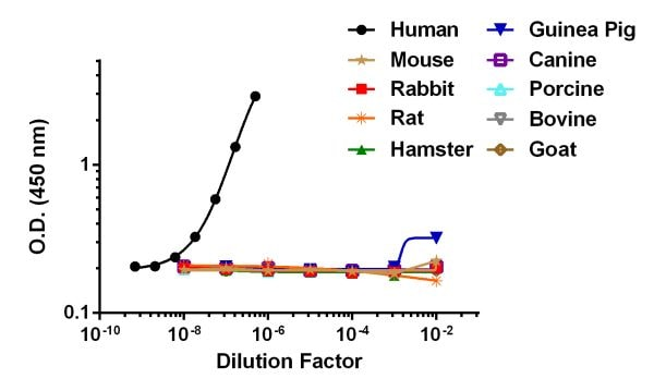 Cross Reactivity in Different Animal Serums