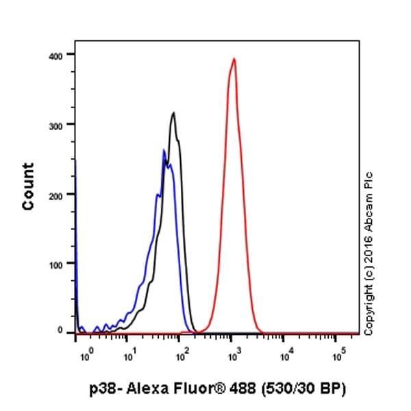 Flow Cytometry (Intracellular) - Anti-p38 alpha/MAPK14 antibody [EPR16878] (ab182453)