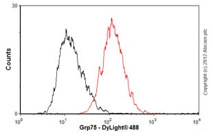 Flow Cytometry - Anti-Grp75/MOT antibody [JG1] (ab2799)
