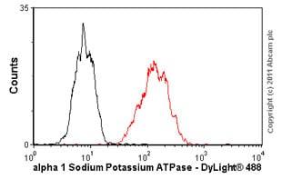 Flow Cytometry - Anti-alpha 1 Sodium Potassium ATPase antibody [M8-P1-A3] (ab2872)