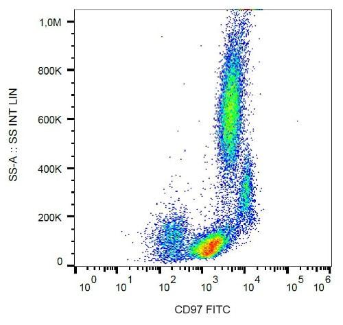 Flow Cytometry - Anti-CD97 antibody [MEM-180] (FITC) (ab23490)