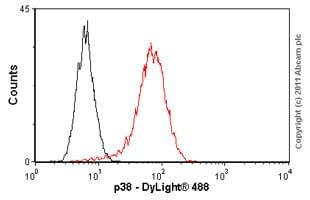 Flow Cytometry抗p38抗体[M138](AB31828)