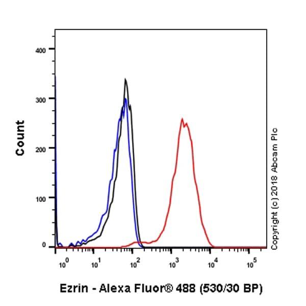 Flow Cytometry - Anti-Ezrin antibody [EP886Y] - Plasma Membrane Marker (ab40839)