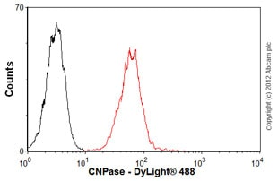 Flow Cytometry-Anti-CNPase antibody [mAbcam 44289](ab44289)