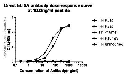 ELISA-抗组蛋白H4(乙酰基K5)抗体[EP1000Y]-芯片级(ab51997)