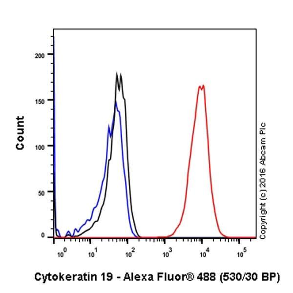 Flow Cytometry抗细胞角蛋白19抗体[EP1580Y] - Cytoskeleton Marker(AB52625)