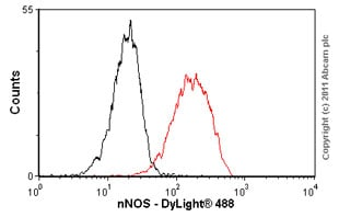 Flow Cytometry - Anti-nNOS (neuronal) antibody [EP1855Y] (ab76067)