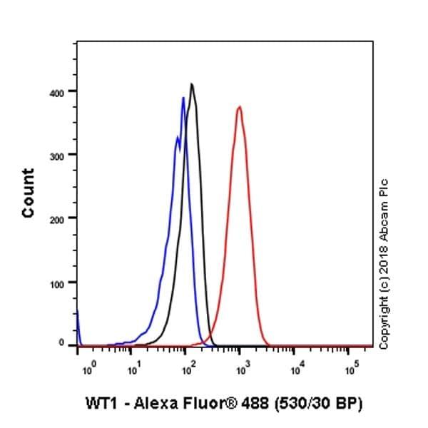 流式细胞术-抗Wilms肿瘤蛋白抗体[CAN-R9(IHC)-56-2](ab89901)