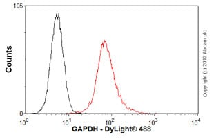 Flow Cytometry - Anti-GAPDH antibody [mAbcam 9484] - Loading Control (ab9484)